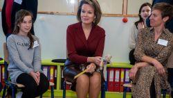Koningin Mathilde opgetogen met antipestbeleid op Tuinbouwschool Melle