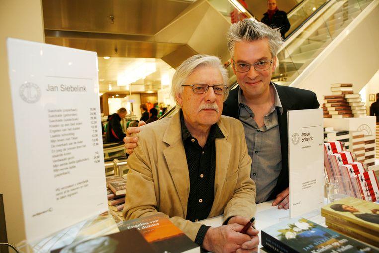 Vader Jan Siebelink en zoon Jeroen Siebelink Beeld ANP