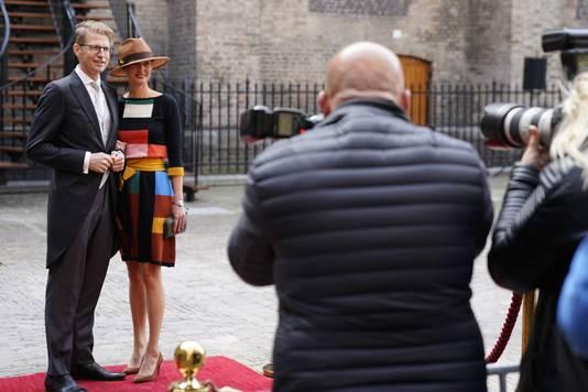 Sander Dekker, minister voor Rechtsbescherming arriveert bij de Ridderzaal op Prinsjesdag.