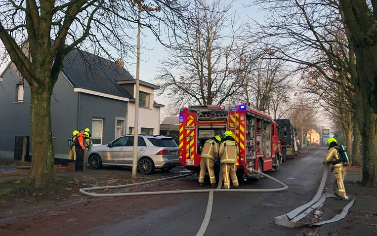 Het huis liep vooral rookschade op.