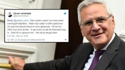 """Lieven Verstraete excuseert zich voor uithaal naar Kris Peeters: """"Ik ga ervan uit dat Arco-geld weg is. Geef dit nu gewoon toe"""""""