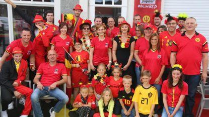 Blauw-Zwart Hoekske supportert voor Rode Duivels