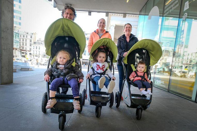 Deze ouders en kinderen vinden de buggy's alvast een excellent idee.