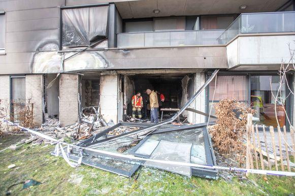 De schade aan het woonzorgcentrum is groot.