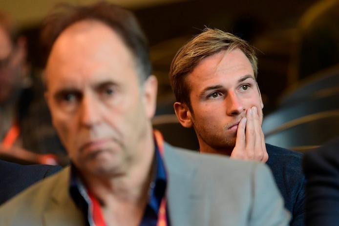 Dirk Huyck, ancien président de Waasland-Beveren et Olivier Myny devant la Chambre d'appel de la Commission des litiges.
