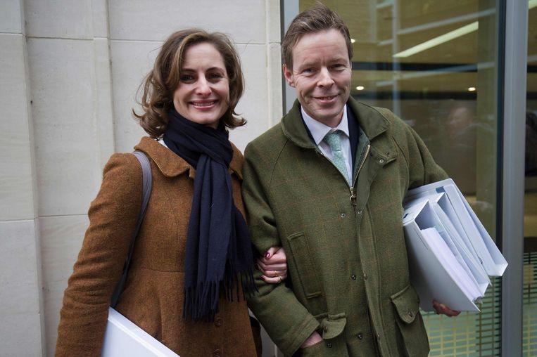 George Bingham met zijn vrouw, Anne-Sofie Foghsgaard.