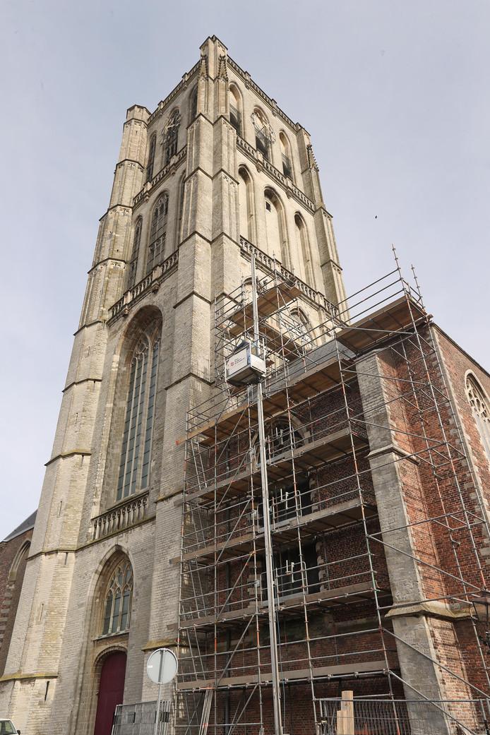 De St. Catharijnekerk staat in de steigers.
