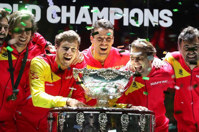 Spanje won in november de Davis Cup.