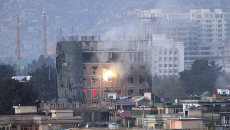 Gevechten in Kabul. Beeld ap