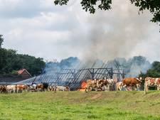 Schuur in Breklenkamp in as gelegd door brand