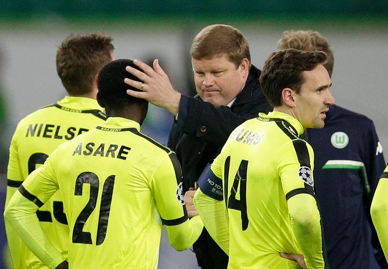 Vanhaezebrouck gaf zijn spelers een bemoedigend tikje na afloop