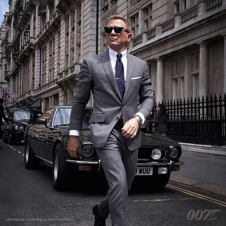 Daniel Craig deze week tijdens de opnames van de voorlopig nog titelloze film 'Bond 25'.