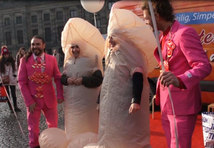 Amsterdam International Condom Day al gevierd.