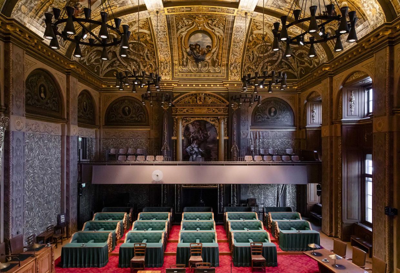 De plenaire zaal van de Eerste Kamer. Beeld ANP