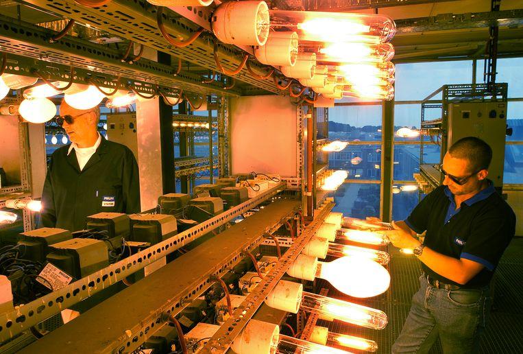 Philips Lighting testruimte Turnhout. Beeld Marcel van den Bergh