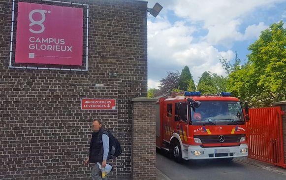 De brandweer kwam ter plekke.