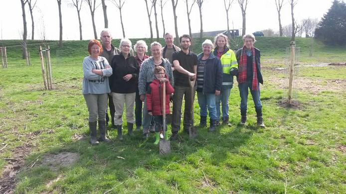 De nieuwe dorpsboomgaard in Wolphaartsdijk