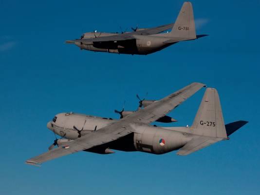 De C130 Hercules op archiefbeeld.