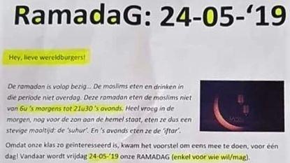 West-Vlaams schooltje houdt 'ramadag', reacties blijven niet uit