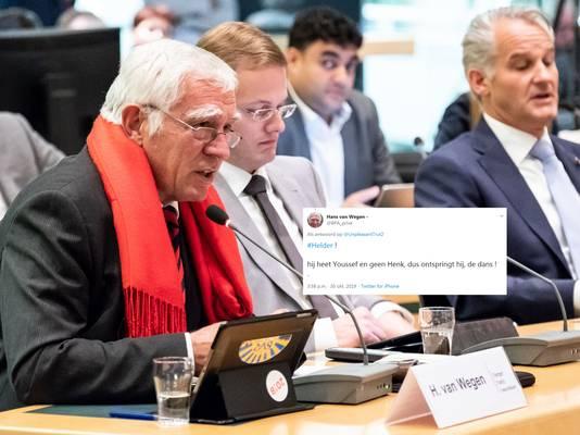 Hans van Wegen met de betreffende tweet.