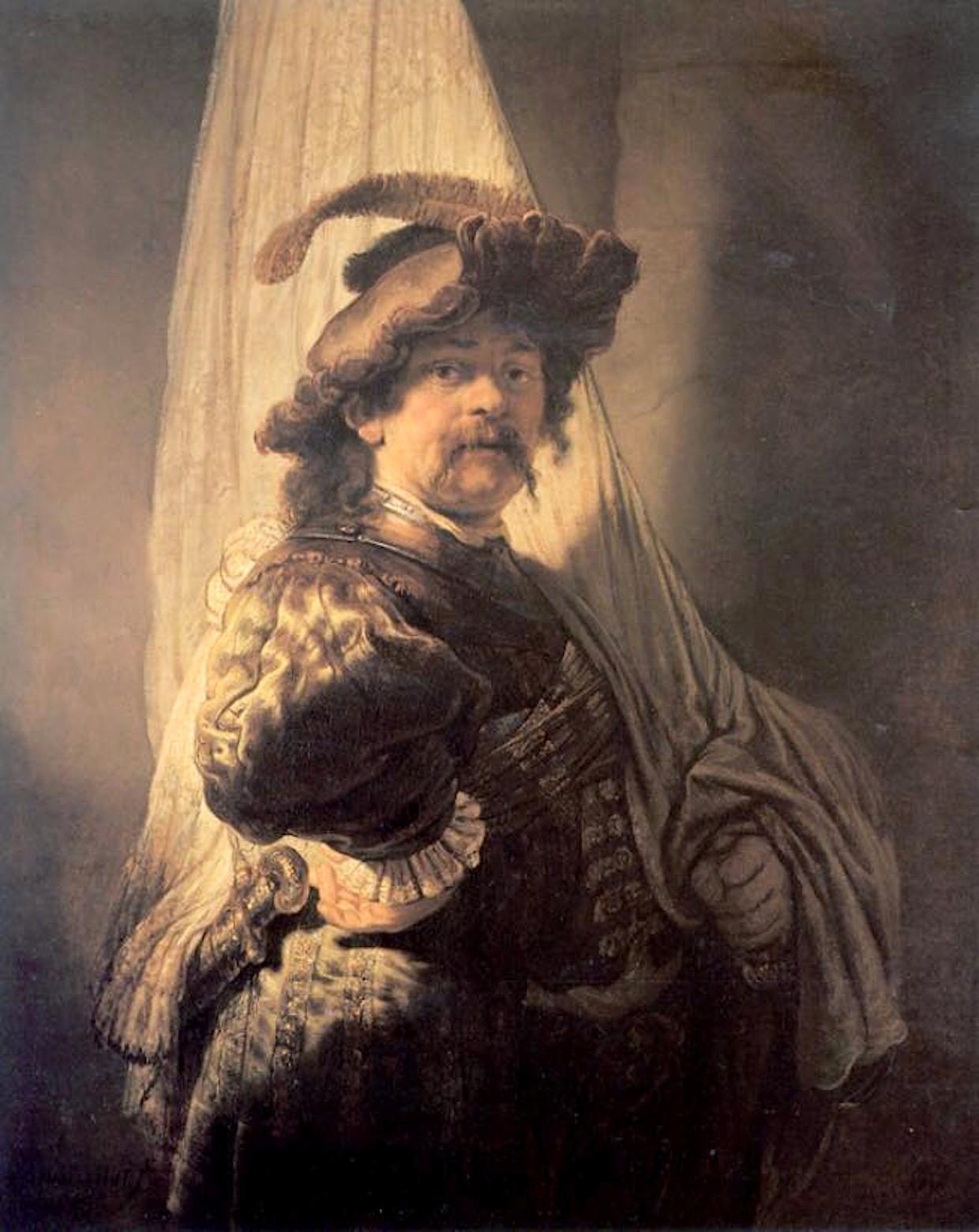 Rembrandt - De Vaandeldrager, wie is de vaandeldrager op dit schilderij?