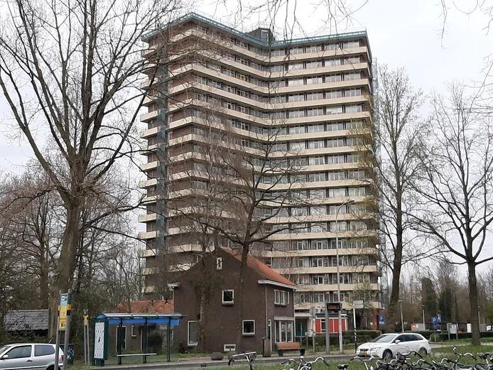 De studentenflat Hoevestein in Wageningen.