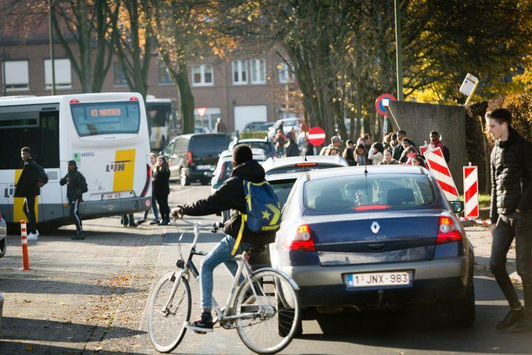 Het centrum van Lanaken blijft een pijnpunt inzake verkeer en veiligheid.