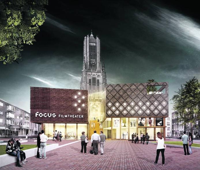 Impressie van het nieuwe filmhuis op het Kerkplein.