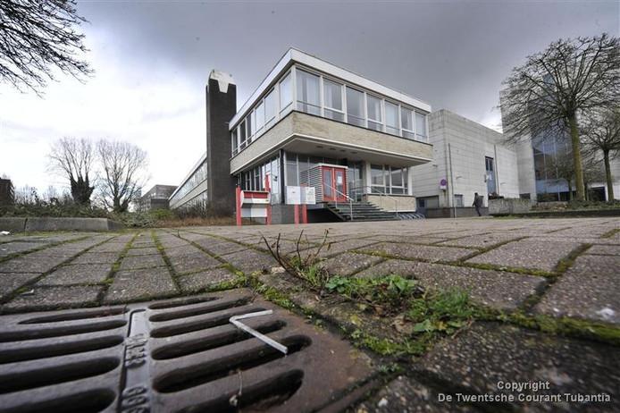 De noodopvang aan de Getfertsingel in Enschede