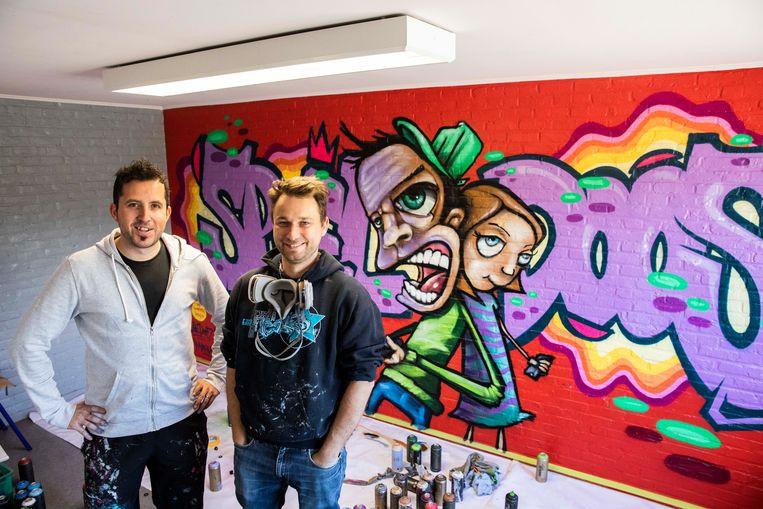 Twee graffiti-kunstenaars uit Bilzen en Herk-de-Stad brengen gratis muurschildering aan in het kinderdagverblijf. In het kader van de Warmste Week deden ze een oproep om geld te geven voor het Kinderkankerfonds in Limburg.