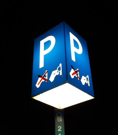 Schemerlampen op parkeerterrein Culemborg