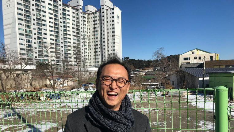 'Weer delft het milieu het onderspit' aldus Hong Jin-won, secretaris van de bezorgde burgers van Gangneung Beeld null