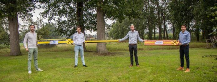 Ondernemers Chris Mulder, Robert Mouw, Paul Leune en Jeroen Bos bedachten het 1.5meterpakket.