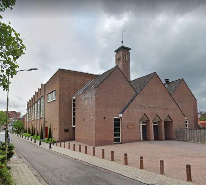 De gereformeerde kerk in het centrum van Barneveld.