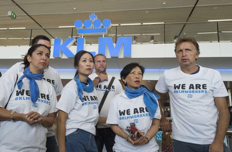 KLM-personeel. Archieffoto.