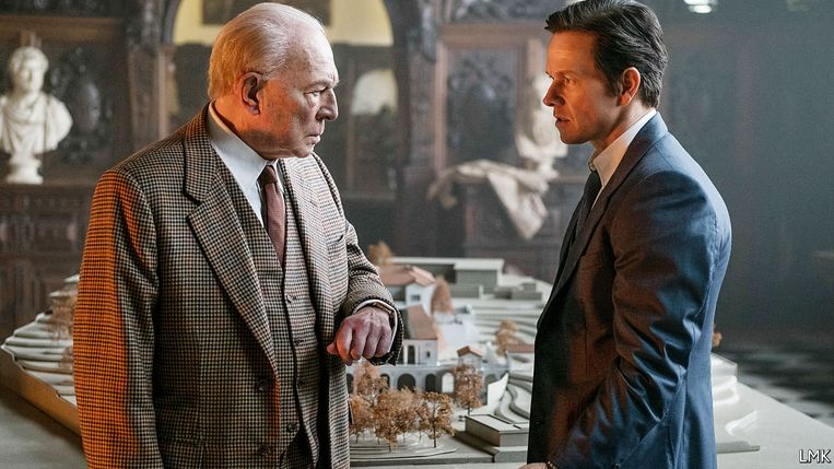 Christopher Plummer (links) en Mark Wahlberg in All the Money in the World. Beeld