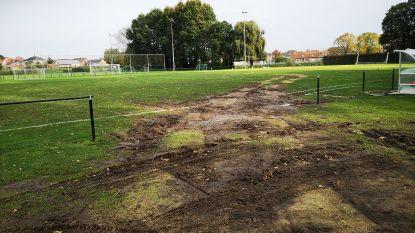 Voetbalveld Ter Borcht beschadigd na passage Berencross