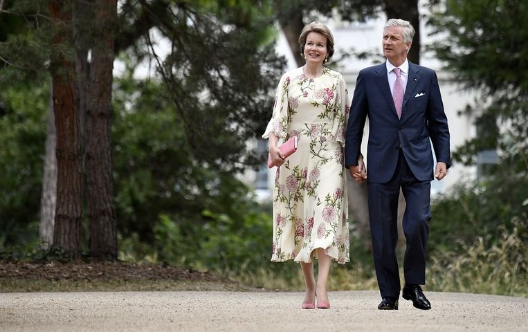 Koningin Mathilde en Koning Filip.