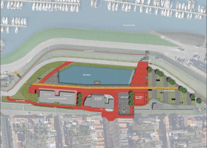 Het Oude Havengebied in Colijnsplaat ondergaat binnenkort een grote reconstructie