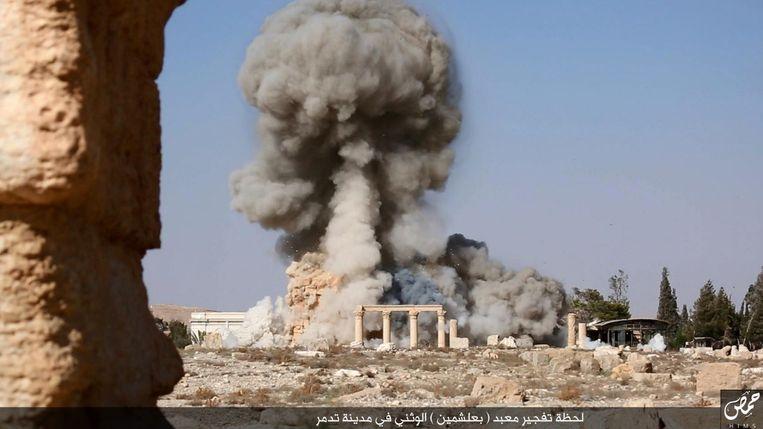 Gevechten bij Palmyra in de zomer van 2015 Beeld afp