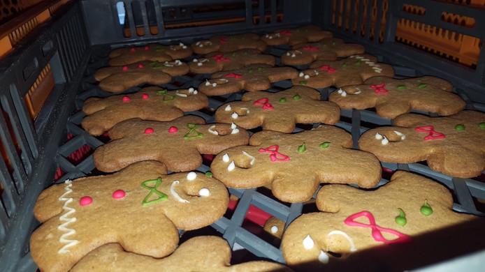 In de bakkerijen zijn met Kerstmis 'echte' gemberkoekmannetjes verkrijgbaar