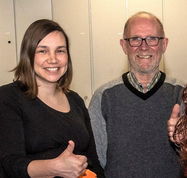 Sarah Van Walleghem en Jozef Vanpeteghem.