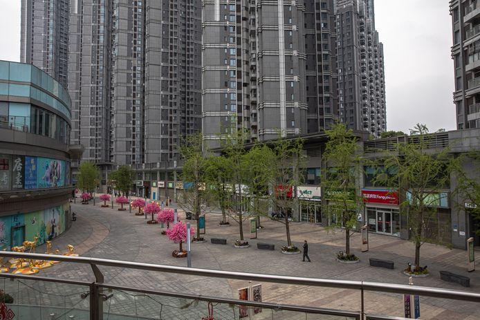Verlaten winkelcentrum Wuhan.