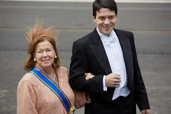 Prinses Christina met haar zoon Bernardo Guillermo
