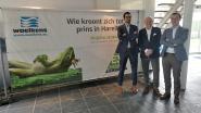 """VIDEO: E3 BinckBank Harelbeke stelt nieuwe banner voor na controverse met gebodypainte dames: """"Door onvoorziene omstandigheden is onze kikker van zijn troon gevallen"""""""