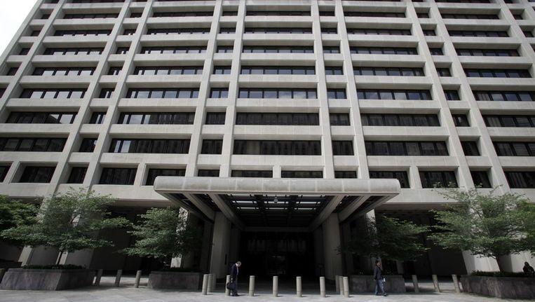 Hoofdkwartier van het IMF in Washington. Beeld null