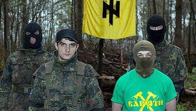 Leden van 'The Patriot of Ukraine'.
