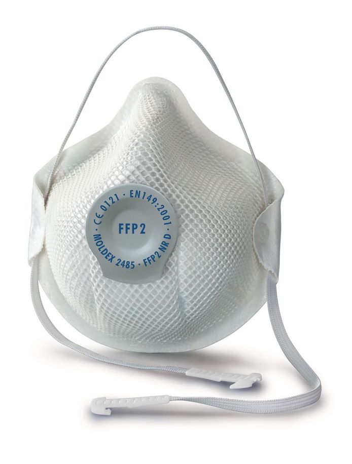 Voorbeeld van een beschermend FFP2-ademhalingsmasker.