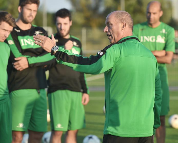 Mart van Bree tijdens een training van Zeelandia Middelburg.