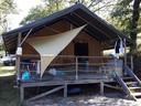 De safaritent van de familie Graff in Arbres.